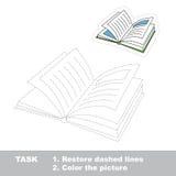 Игра трассировки вектора Книга, который нужно следовать Стоковое Изображение RF