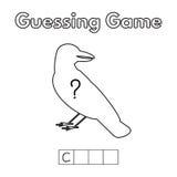 Игра-угадайка вороны шаржа Стоковое Фото
