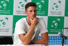 Игра Украина v Австрия тенниса Davis Cup Стоковые Фотографии RF