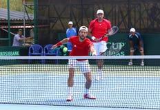 Игра Украина v Австрия тенниса Davis Cup Стоковая Фотография