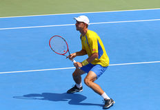 Игра Украина v Австрия тенниса Davis Cup Стоковое Изображение
