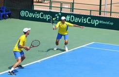 Игра Украина v Австрия тенниса Davis Cup Стоковые Фото
