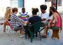 Игра улицы домино, Куба Стоковые Изображения