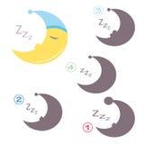 Игра формы - луна Стоковое Фото