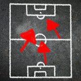 Игра футбола на классн классном Стоковое Изображение