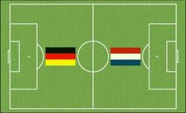 Игра футбола Нидерланды против Германии Стоковое Фото
