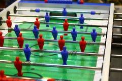 Игра футбола таблицы крытая стоковая фотография rf