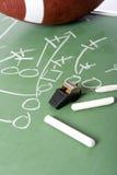 игра футбола chalkboard Стоковое Изображение