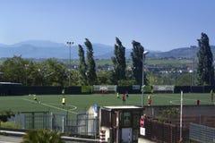 Игра футбола в Беневенте, кампания, Италия Стоковая Фотография RF