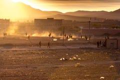 Игра футбола в провинции Стоковые Изображения