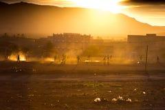 Игра футбола в провинции Стоковое фото RF