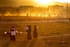 Игра футбола в провинции Стоковые Фотографии RF