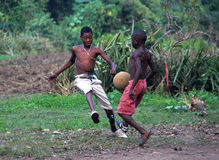 Игра футбола обочины Стоковое Изображение RF