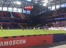 Игра футбола CSKA-Ростов в стадионе CSKA, Москве Стоковое Изображение