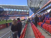 Игра футбола CSKA-Ростов в стадионе CSKA, Москве Стоковые Фотографии RF
