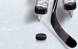 Игра хоккея на льде с космосом экземпляра Стоковые Изображения RF