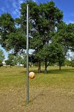 Игра шарика tether Стоковые Фото