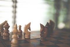 Игра шахмат бизнес-план & анализ для успеха риск & strateg Стоковые Изображения