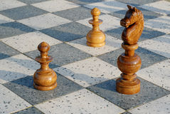 игра шахмат напольная Стоковые Фото
