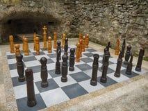 игра шахмат напольная стоковое фото rf