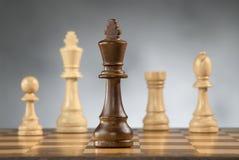 игра шахмат соединяет деревянное Стоковое фото RF