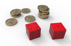 Игра для денег Иллюстрация штока