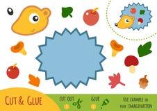 Игра для детей, еж образования бумажная