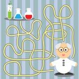 Игра для детей - ученый порции Стоковая Фотография RF