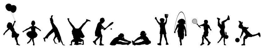 игра 4 детей знамени Стоковое Изображение RF