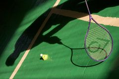 игра badminton Стоковое Изображение