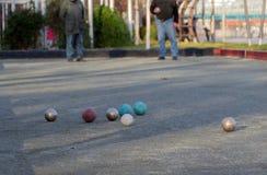 Игра Boules, игра игры в петанки Стоковое Изображение RF