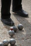 Игра Boules (Petanque) Стоковая Фотография