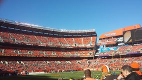Игра Cleveland Browns стоковые фото