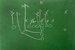 игра fooball диаграммы chalkboard Стоковая Фотография RF