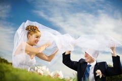 игра groom невесты стоковые изображения
