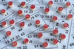 Игра lotto столешницы старая с деревянными элементами стоковое фото