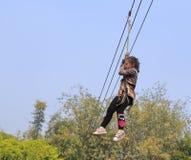 Игра strop игры маленькой девочки Стоковое фото RF