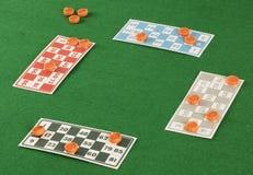 Игра tombala bingo Lotto играя в азартные игры Стоковая Фотография