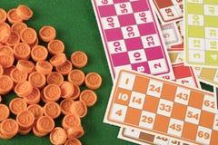 Игра tombala bingo Lotto играя в азартные игры Стоковые Изображения