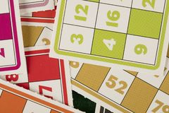 Игра tombala bingo Lotto играя в азартные игры Стоковые Изображения RF