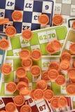 Игра tombala bingo Lotto играя в азартные игры Стоковое Изображение RF