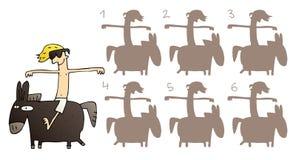 Игра Visual зеркального отображения лошади Стоковая Фотография