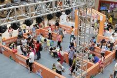 Игровая зона семьи в моле wanda Стоковая Фотография