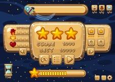 Игровой дизайн с космосом в предпосылке иллюстрация штока