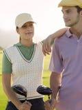 2 игрока в гольф на поле для гольфа Стоковое фото RF