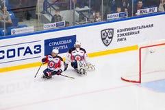 2 игрока Ladoga ( blue) команда Стоковые Изображения