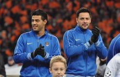 2 игрока Real Sociedad Стоковые Изображения RF