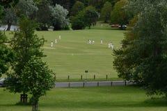 Игроки в крикет в сельской местности стоковые фото