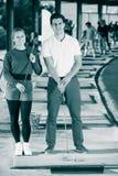 Игроки гольфа на поле для гольфа Стоковая Фотография RF