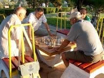 игроки 2 игры людей шахмат Стоковая Фотография